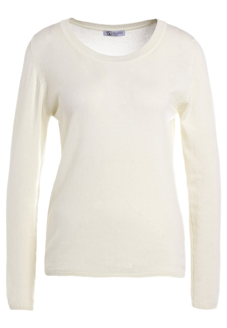 Johnstons Cashmere GAUZY SCOOP NECK Sweter light yellow - KAP03447