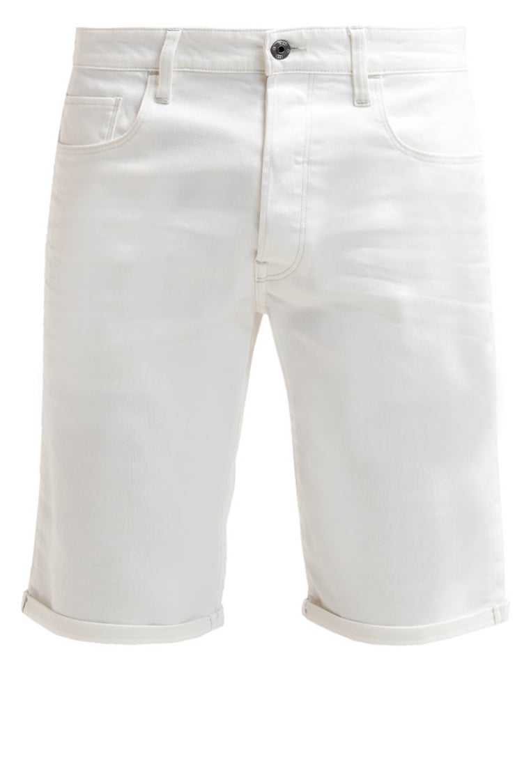 GStar 3301 TAPERED 1 Szorty jeansowe inza white stretch denim - D01424