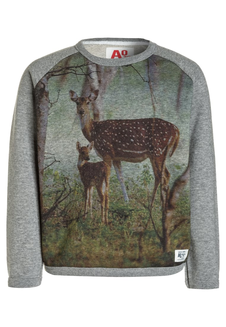 American Outfitters GLITTER CNECK BAMBI Bluza heather oxford - 217-1220-20