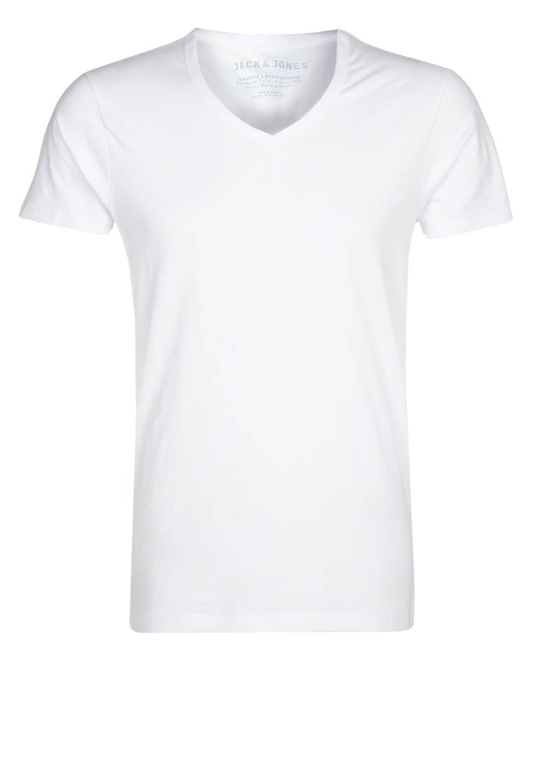Jack & Jones BASIC VNECK Tshirt basic opt white - 12059219