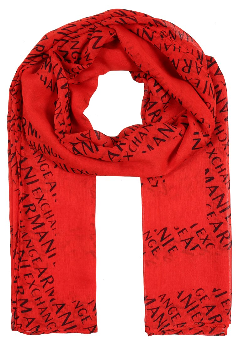 Armani Exchange SCARF Szal poppy red/navy - 8NY401 YN85Z