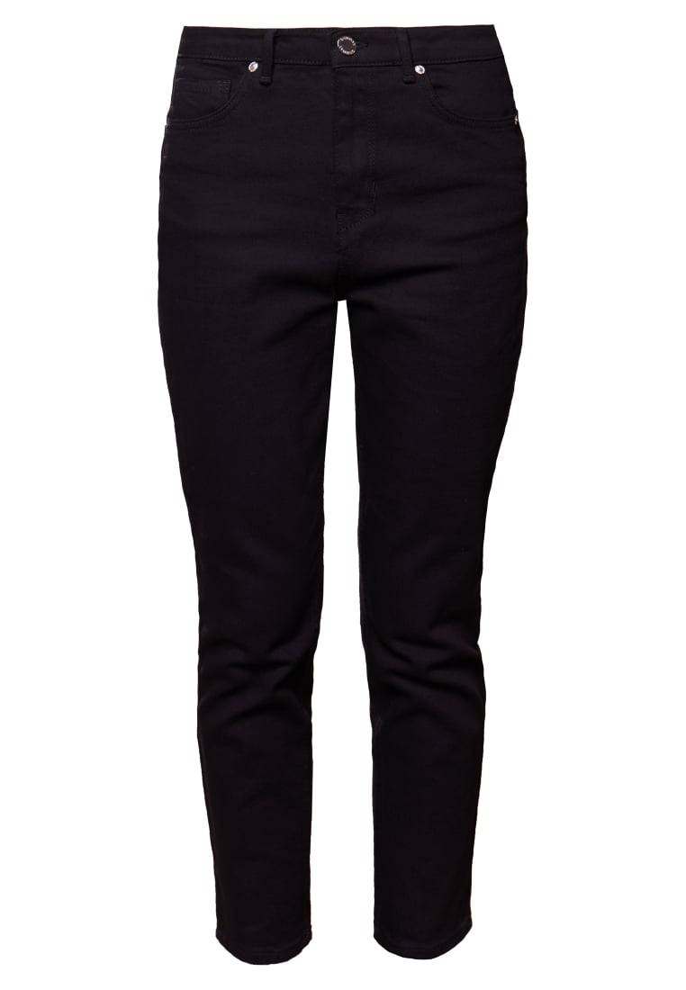 2nd Day CROPPED REX Jeansy Slim fit black - 2175724318