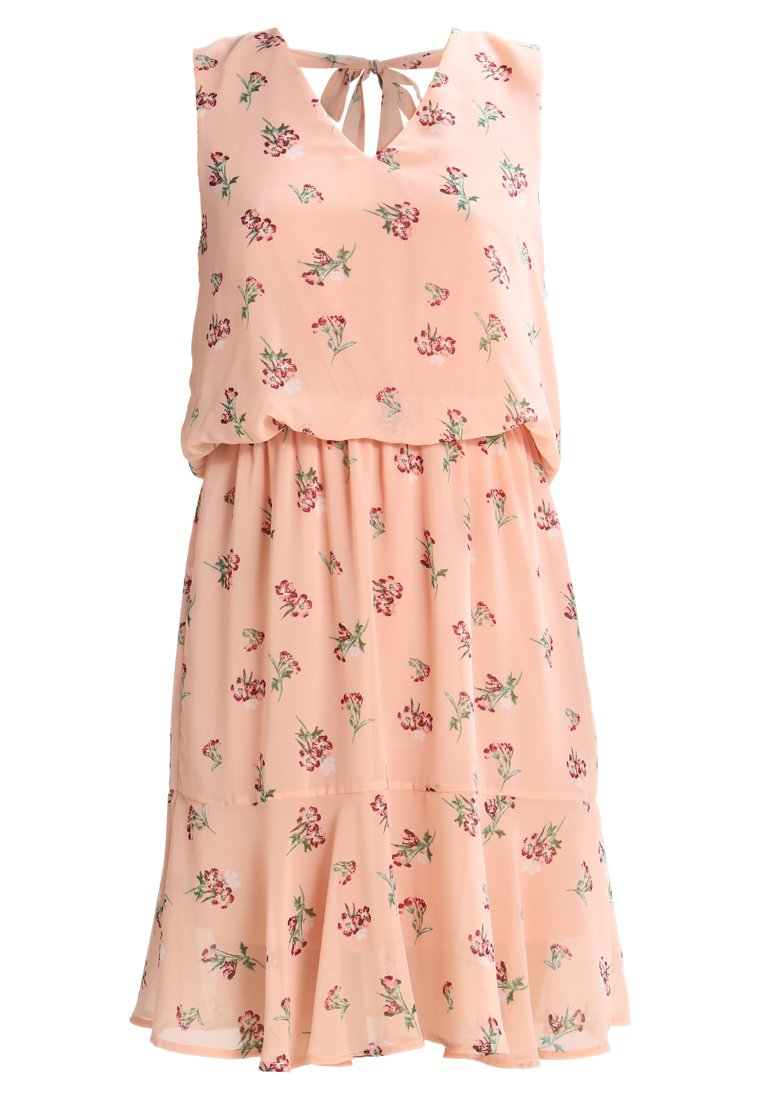 Vero Moda VMYES DRESS WITH TIE BACK  Sukienka letnia mahogany rose