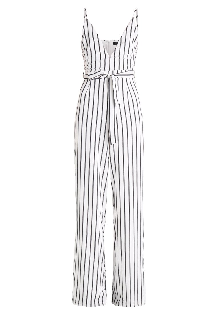 Missguided Tall STRAP BELTED Kombinezon white - WXY9202227