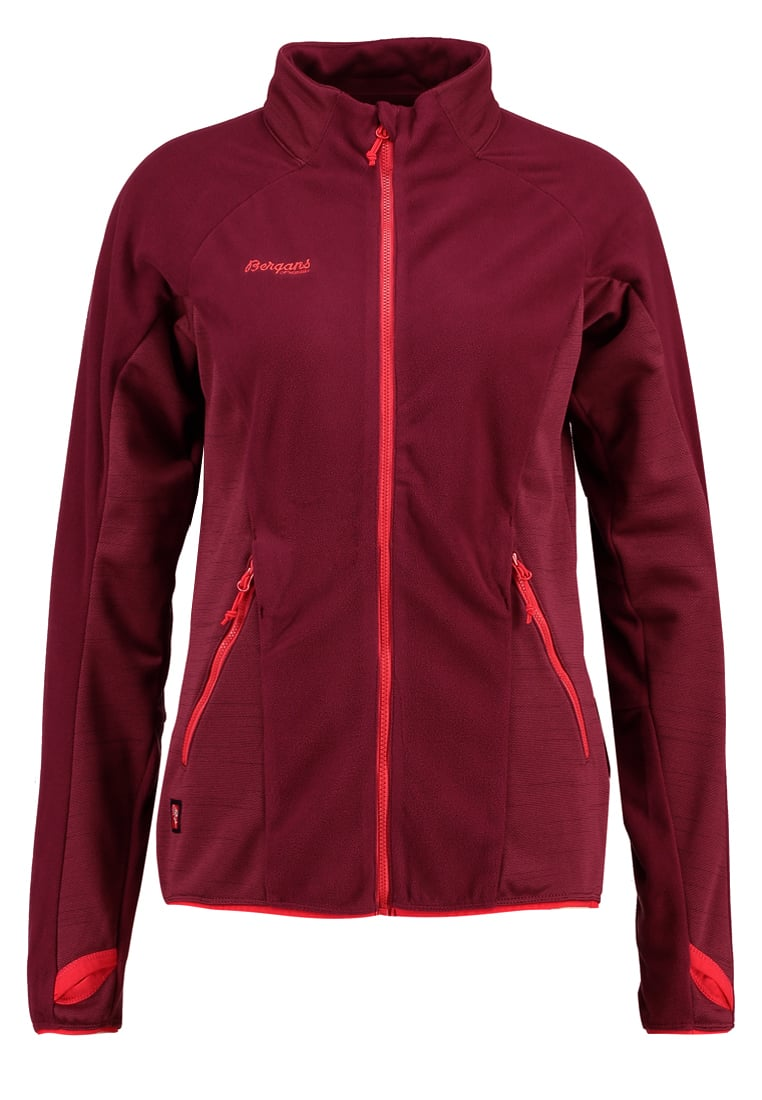Bergans CECILIE Kurtka z polaru dark cherry/strawberry - 3971