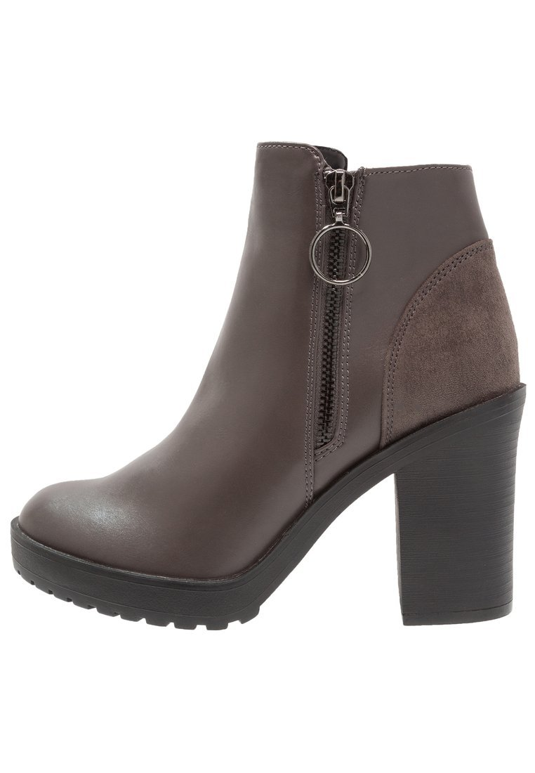 ONLY SHOES Botki na obcasie grey - 15150700