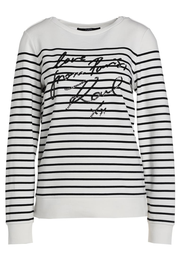 KARL LAGERFELD LOVE FROM PARIS SEQUENCE Bluza white/black