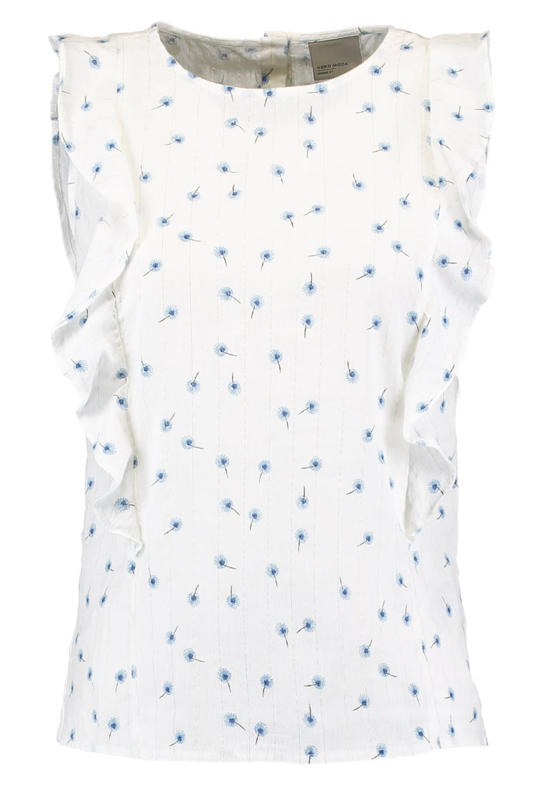 Vero Moda Tall VMDEBBI Bluzka snow white - 10184615