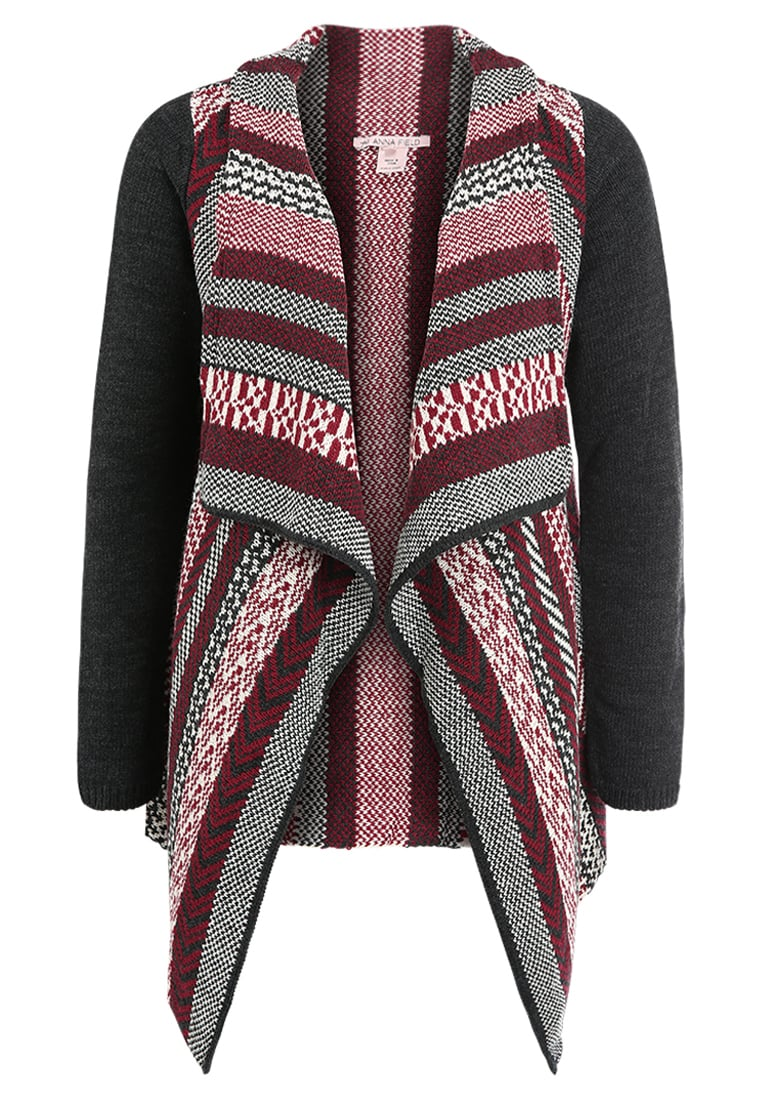 Anna Field ALL OVER PATTERN Kardigan black/dark red - AN6_FW17_2-1-I_048