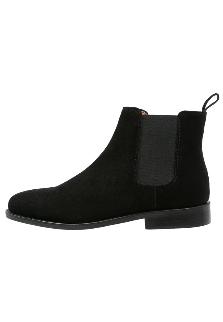Peralston Botki black - PE-CB-02 CHELSEA BOOT Suede Leather