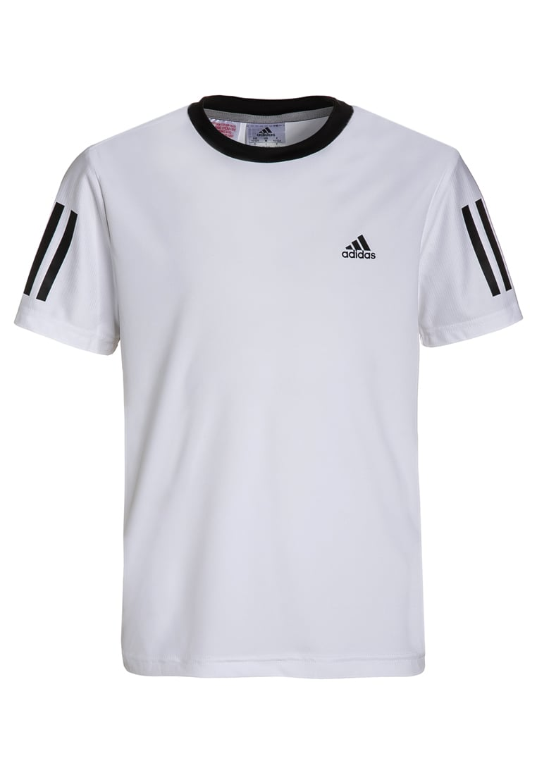 adidas Performance CLUB Koszulka sportowa white/black - BX525