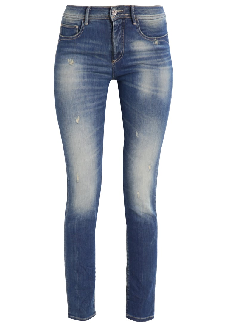 Benetton Jeansy Slim fit denim blue - 4Y7V555L5