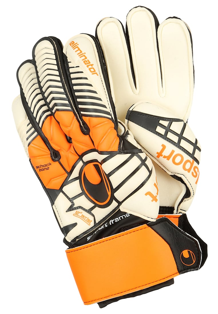 Uhlsport ELIMINATOR Rękawice bramkarskie schwarz/orange/weiß - 1000171