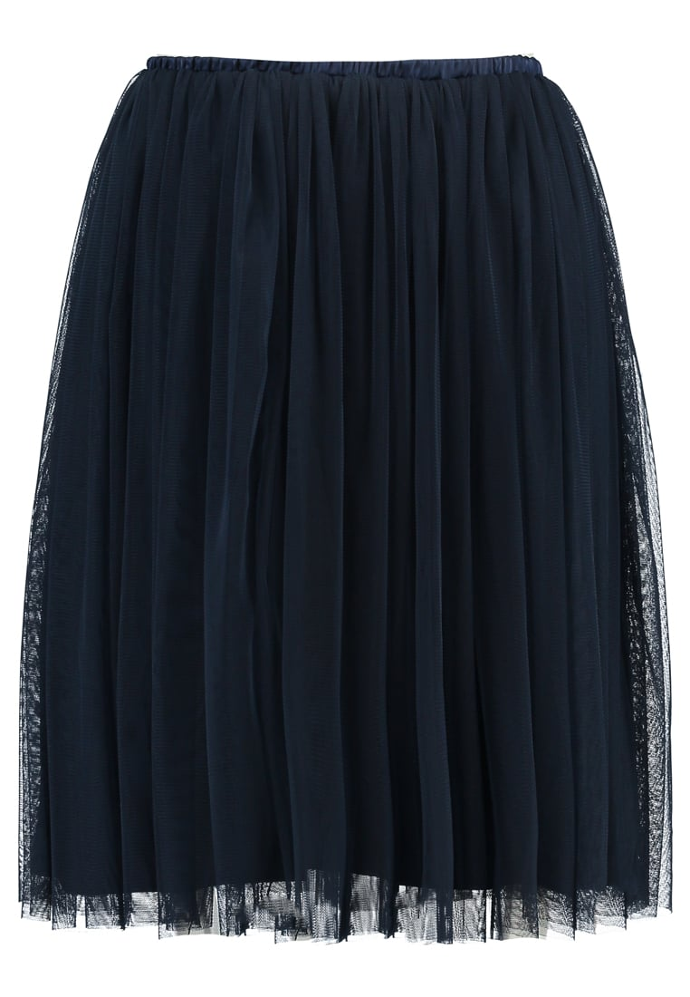 Lace & Beads Petite VAL Spódnica trapezowa navy - Val