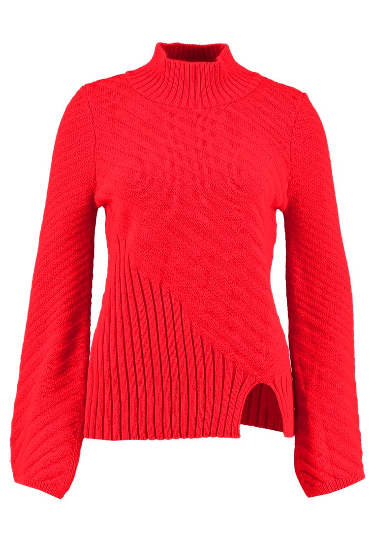 Topshop FUNNEL  Sweter red