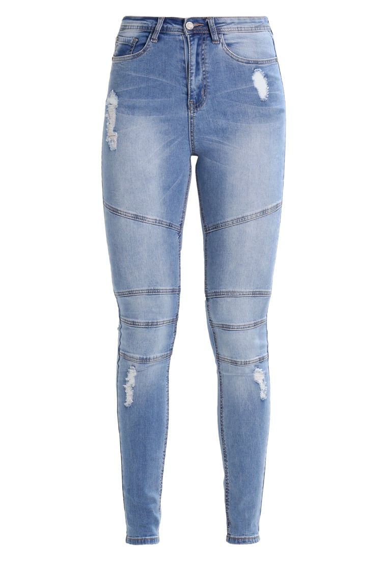 Missguided Tall BIKER Jeans Skinny Fit blue - WZG1800678