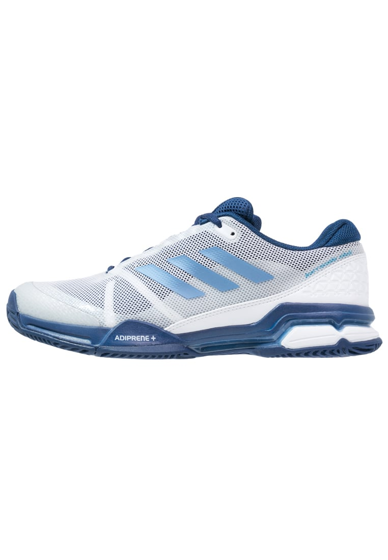 adidas Performance BARRICADE CLUB Buty multicourt white/tech blue/mystery blue - KDC47