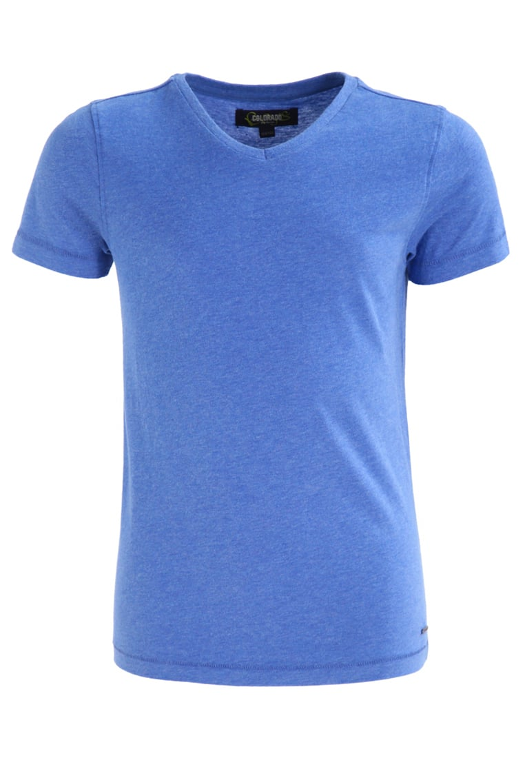 Colorado Denim BOGART Tshirt basic strong blue melange - 13423-001