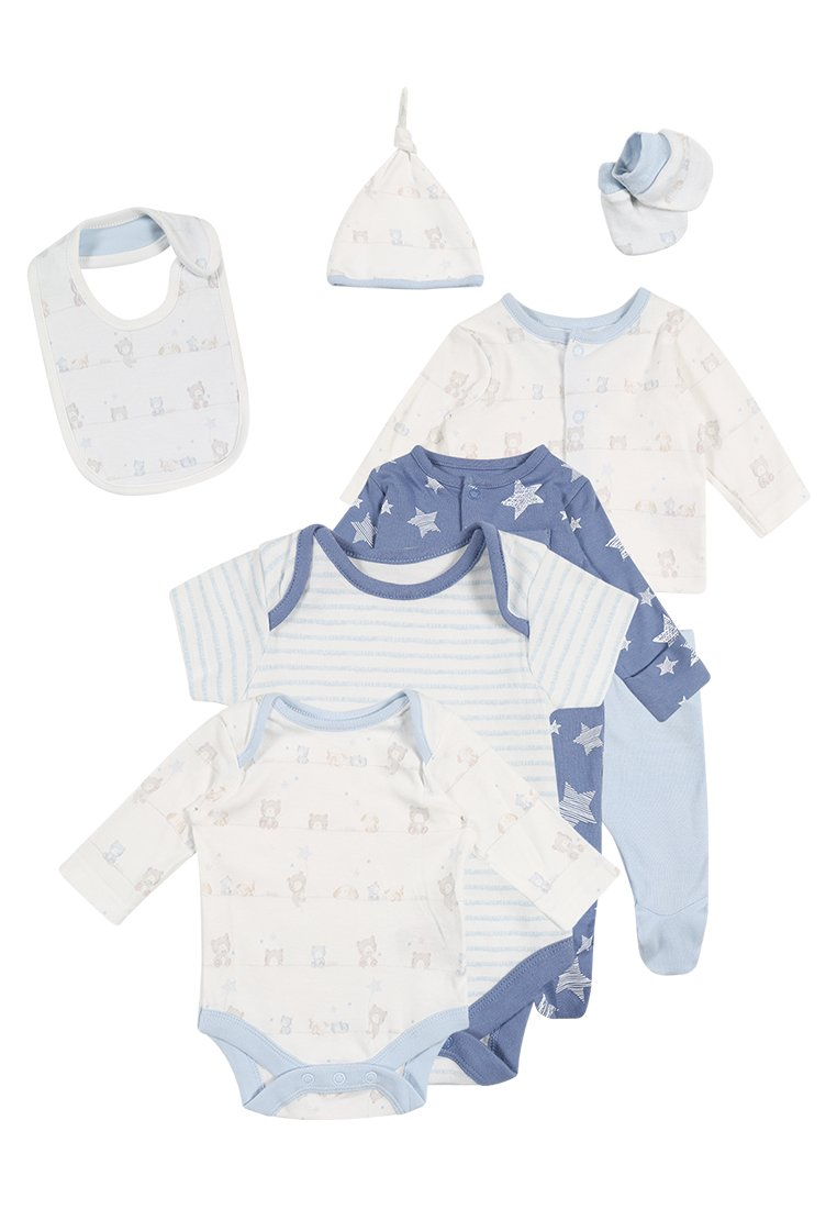 mothercare BOYS MY FIRST GIFT SET BABY Chusta pale blue - PD370