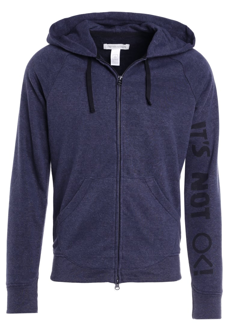 Outerknown CARRIE ON HOODIE Bluza rozpinana ink - 1250018