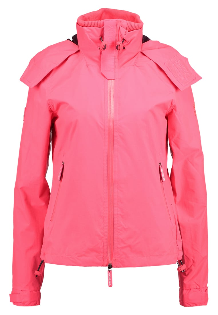 Superdry HOODED CLIFF HIKER Kurtka wiosenna coral punch/deep marine
