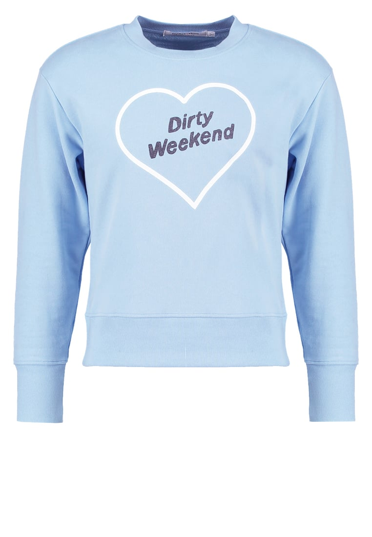 Topman Design DIRTY WEEKEND Bluza mid blue - 79T05MBLE