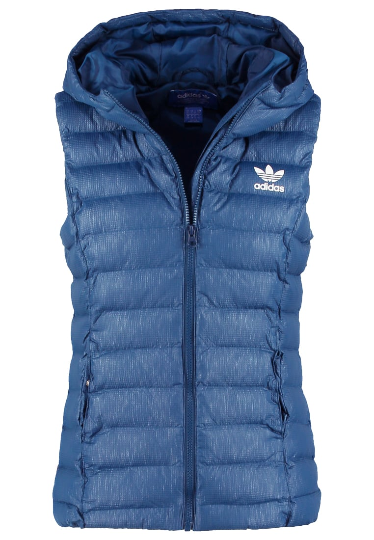 adidas Originals SLIM FIT Kamizelka dark blue - BRG58