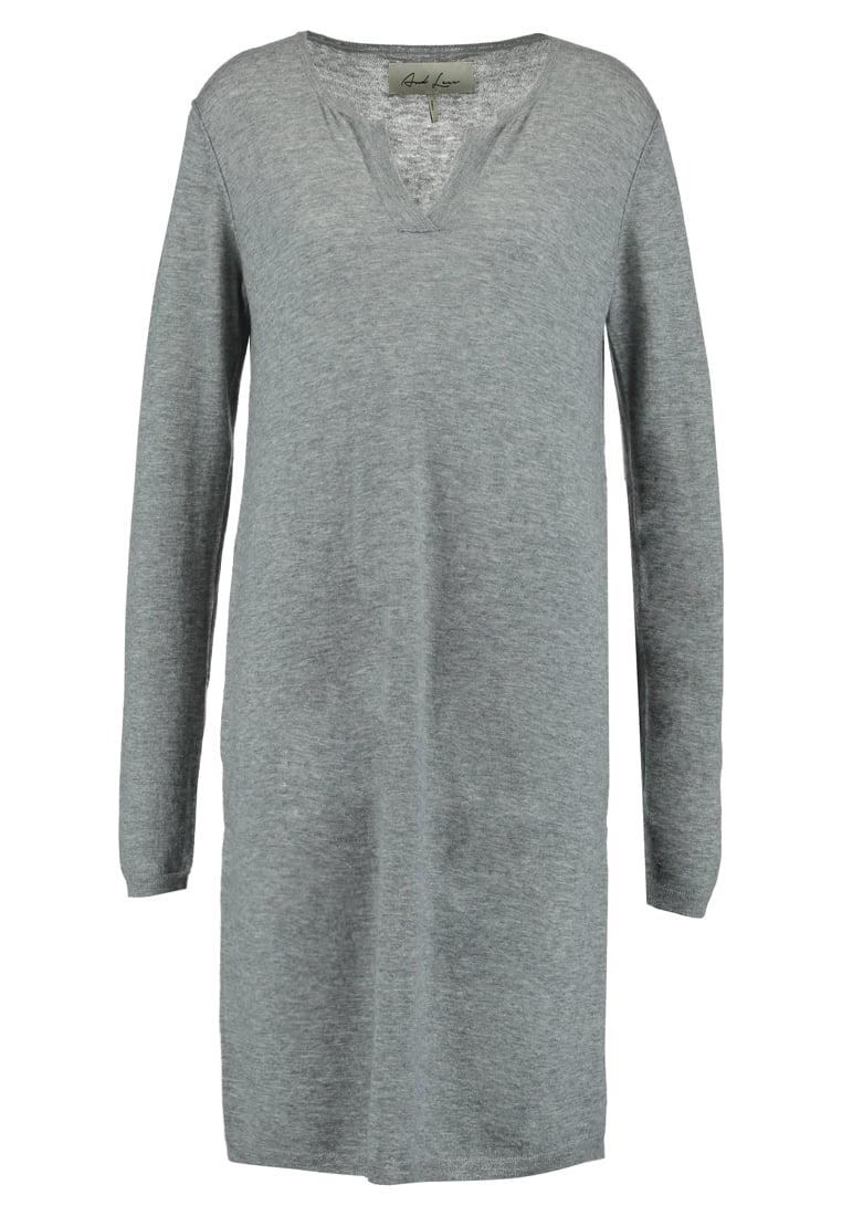 And Less PALMAIRE Sukienka dzianinowa grey melange - 5417800