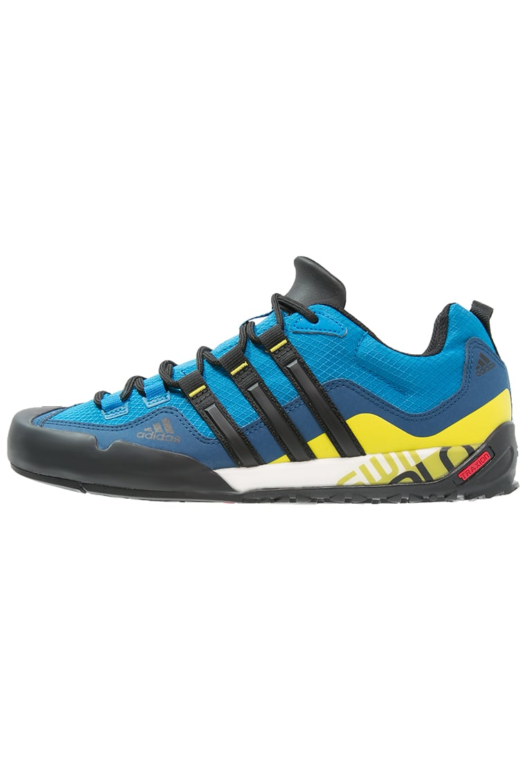 adidas Performance TERREX SWIFT SOLO Półbuty trekkingowe unity blue/core black/unity lime - IEQ83