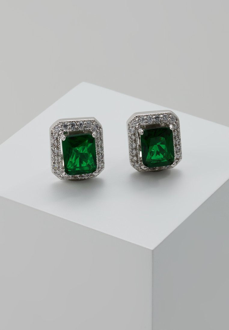 CZ by Kenneth Jay Lane EMPRESS CUT PAVE TRIM Kolczyki green - KE087