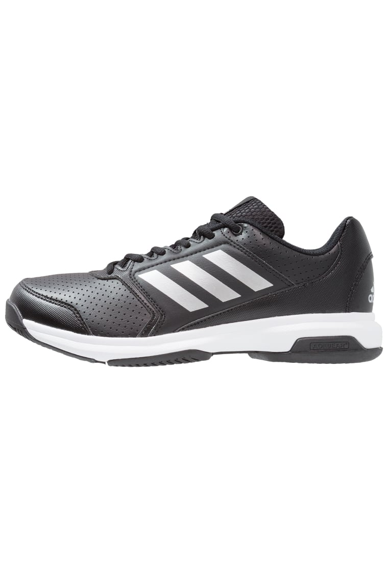 adidas Performance ADIZERO ATTACK Buty do tenisa Outdoor core black/silver metallic/white - KDJ52
