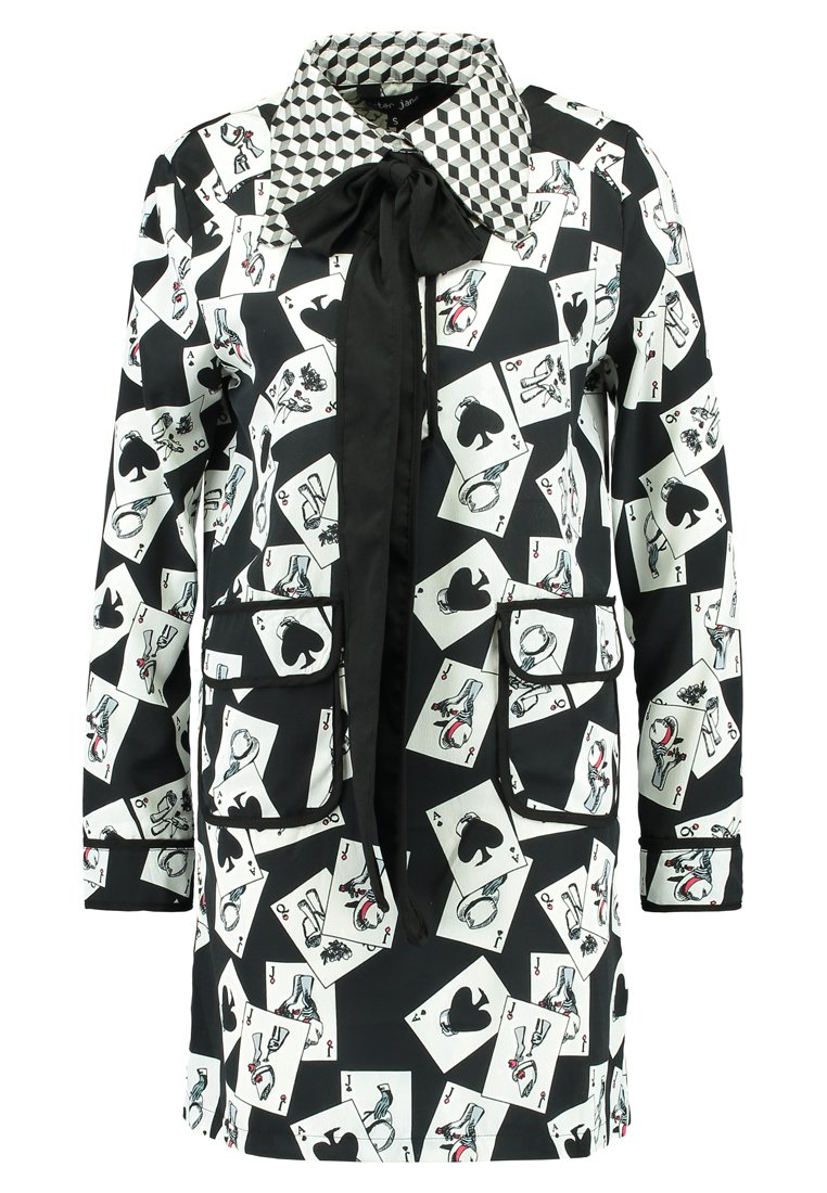 Sister Jane FULL HOUSE SHIFT DRESS Sukienka koszulowa black/white - DR877BNW