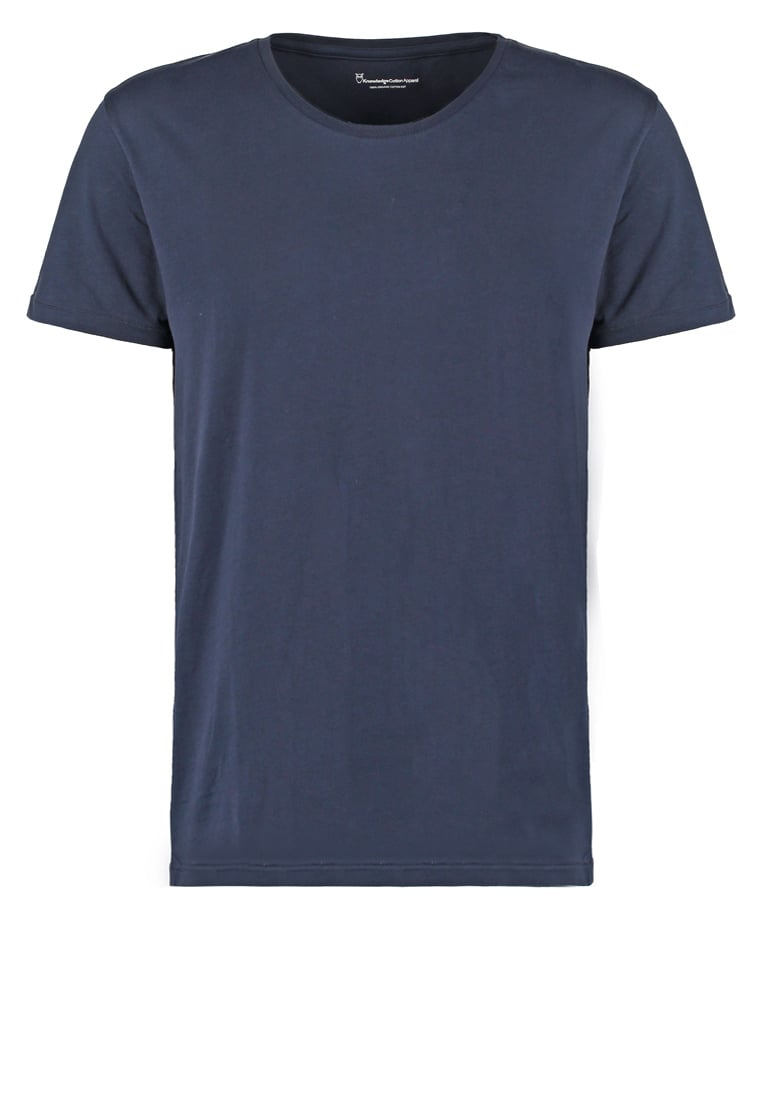 Knowledge Cotton Apparel BASIC FIT ONECK Tshirt basic dunkelblau - 10110