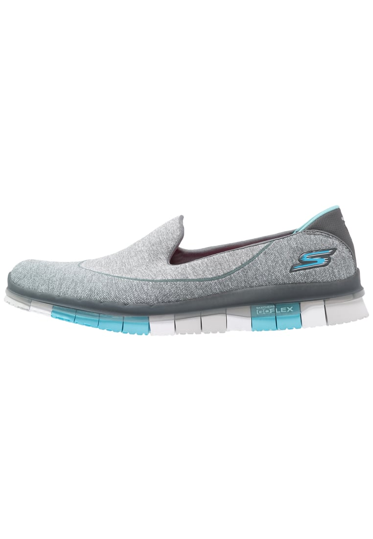 Skechers Performance GO FLEX Półbuty wsuwane charcoal/blue - 14010