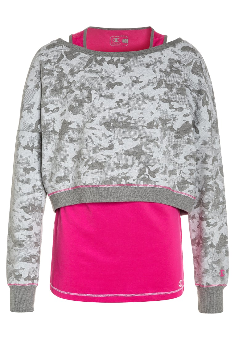 Champion 2IN1 Top oxford grey/pink - 403062 S17