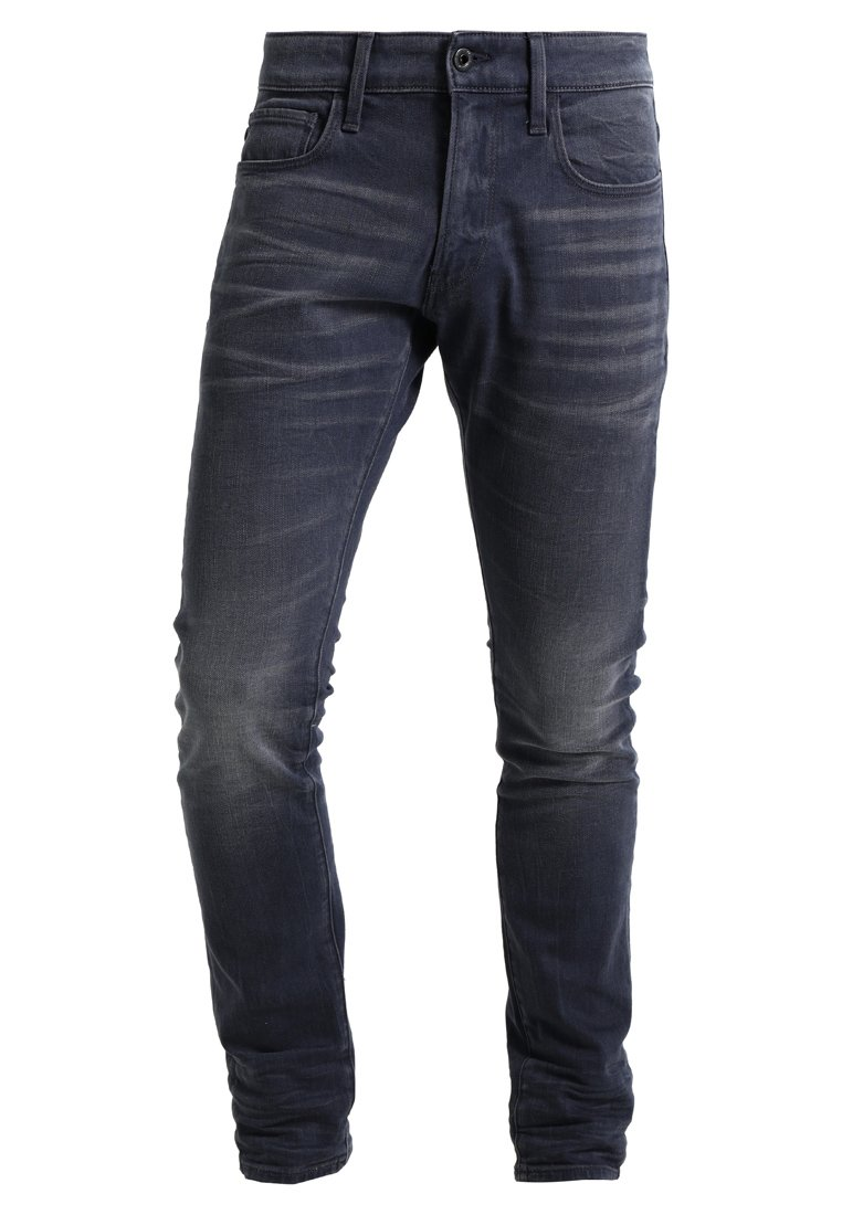 GStar 3301 DECONSTRUCTED SUPER SLIM Jeansy Slim Fit kess grey denim - D01159