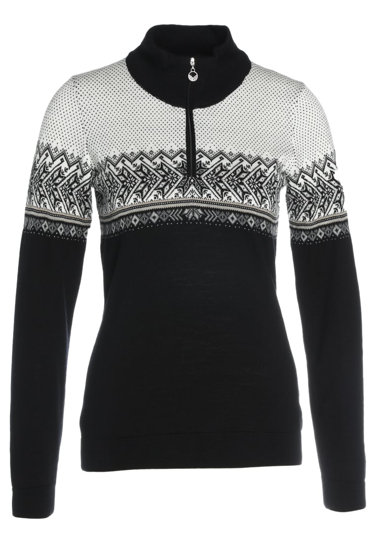 Dale of Norway HOVDEN Sweter black/light charcoal/smoke beige/off white - 93451
