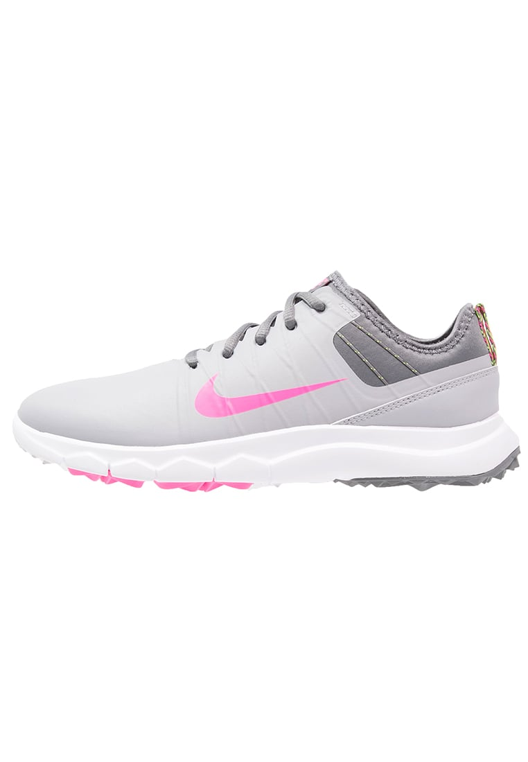 Nike Golf FI IMPACT 2 Buty do golfa wolf grey/pink blast/cool grey/white/volt - 776093