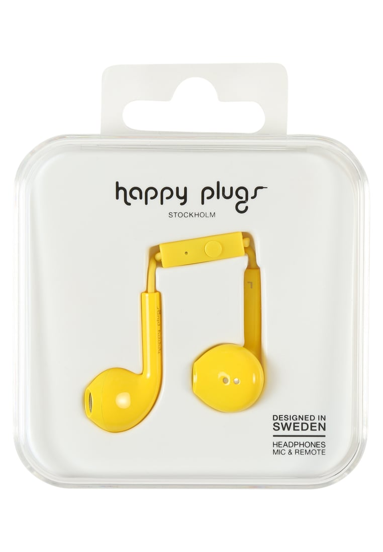 Happy Plugs PLUS DELUXE Słuchawki yellow - Happy Plugs Earbud Plus Deluxe