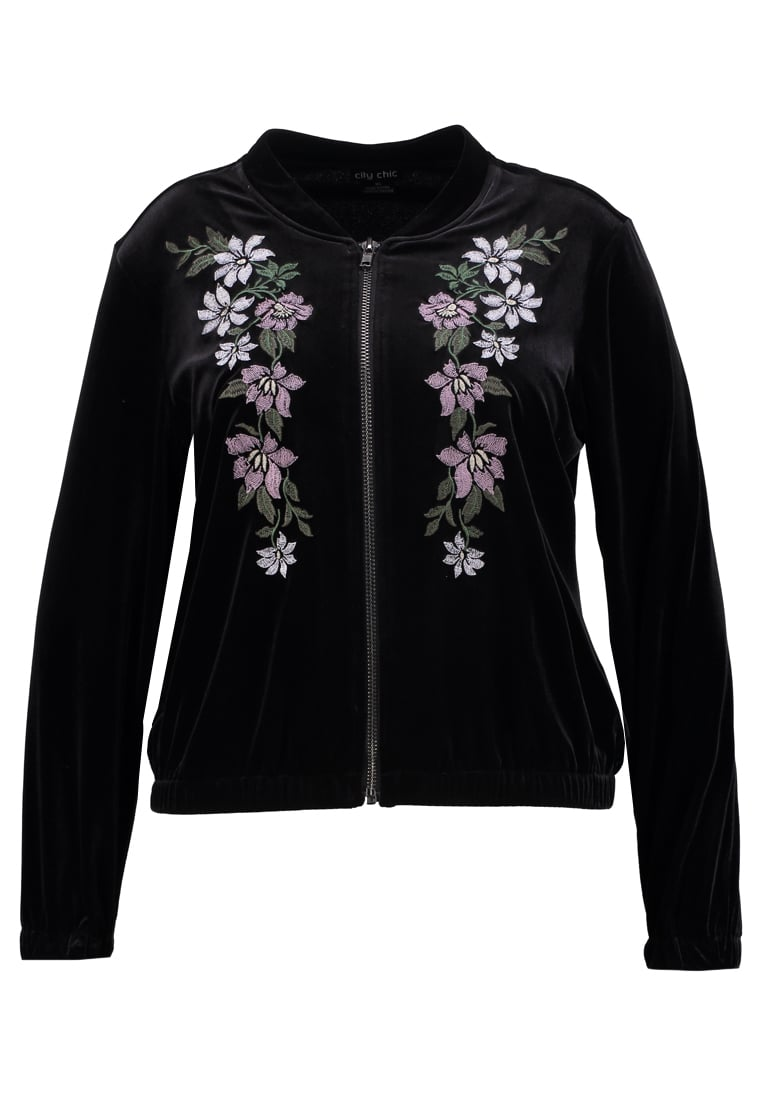City Chic Kurtka Bomber black - 00125960