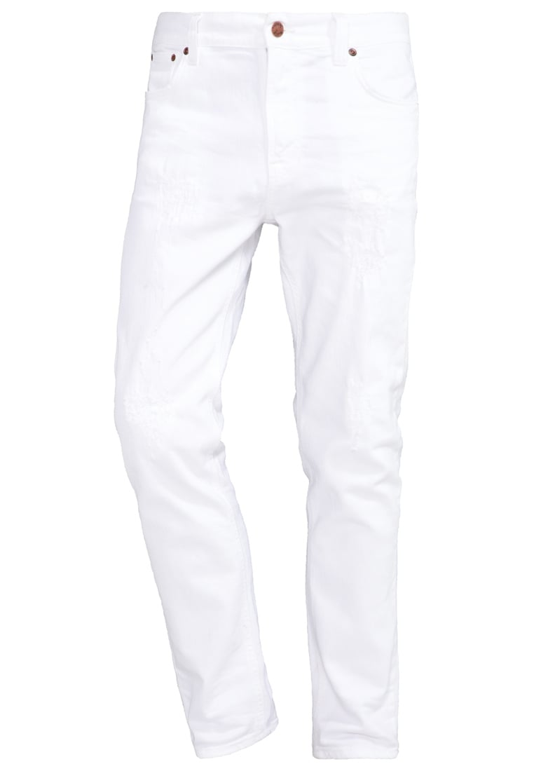 Nudie Jeans BRUTE KNUT Jeansy Relaxed fit pitch white - 112418