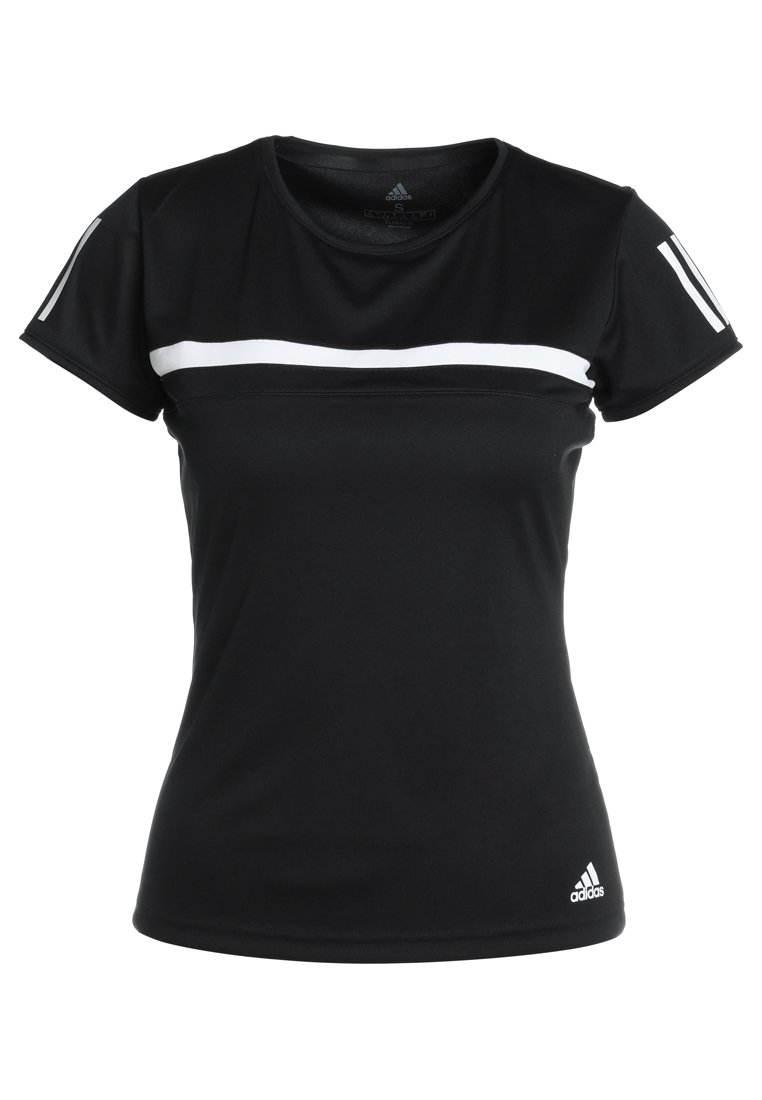 adidas Performance CLUB TEE Tshirt z nadrukiem black - EAR48