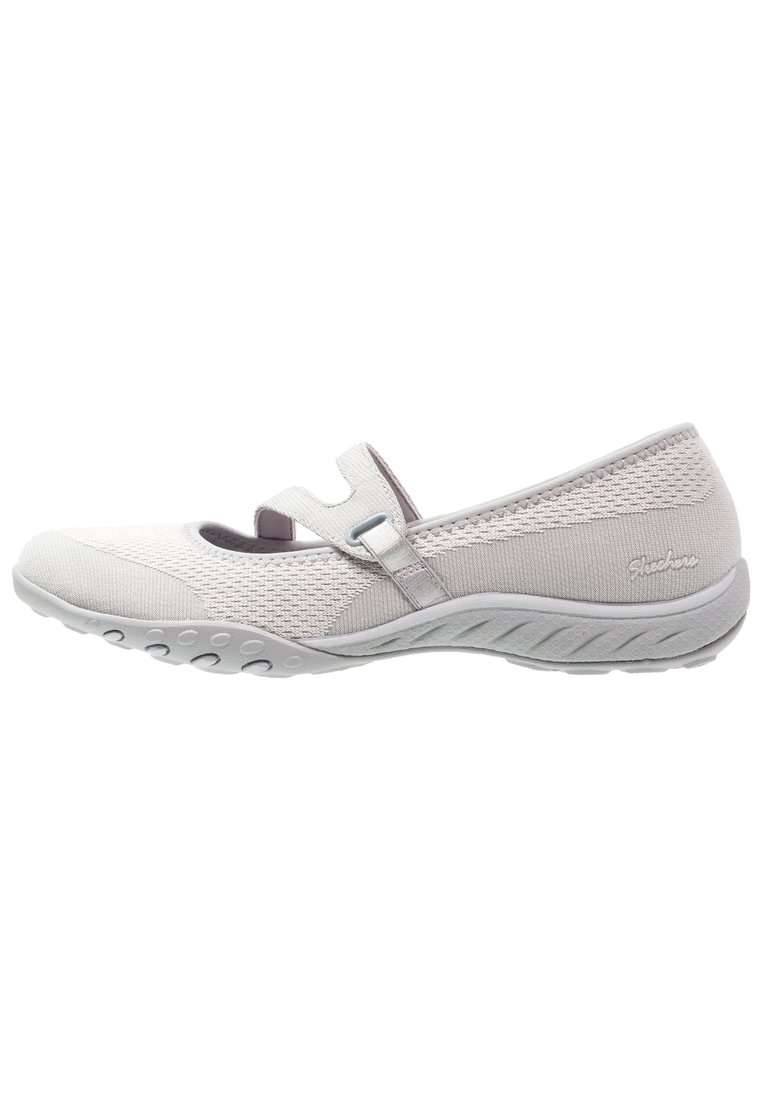 Skechers BREATHEEASY LUCKY LADY Baleriny z zapięciem light grey