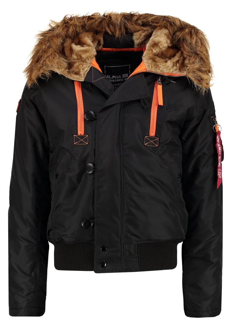 Alpha Industries Kurtka zimowa black/orange - 133147