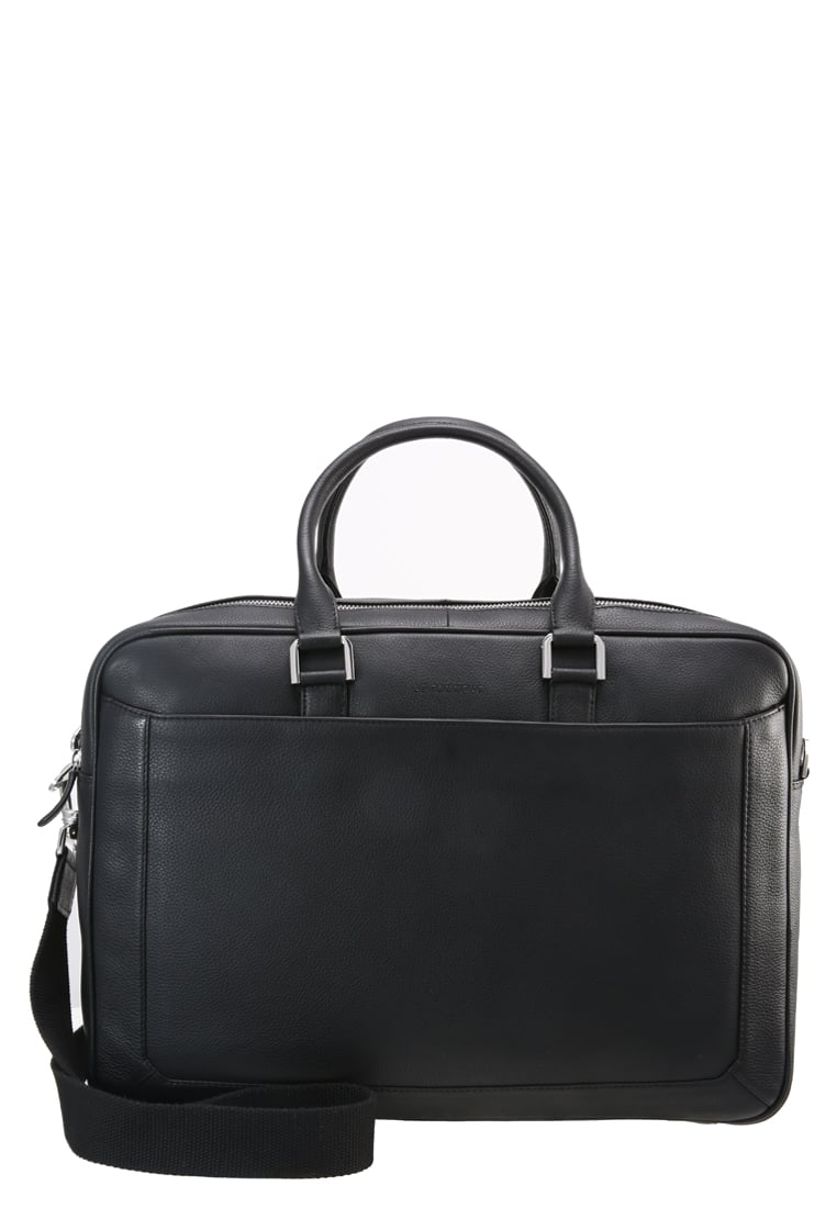 Le Tanneur BRUNO BRIEFCASEBI Torba na laptopa black - TBN4002