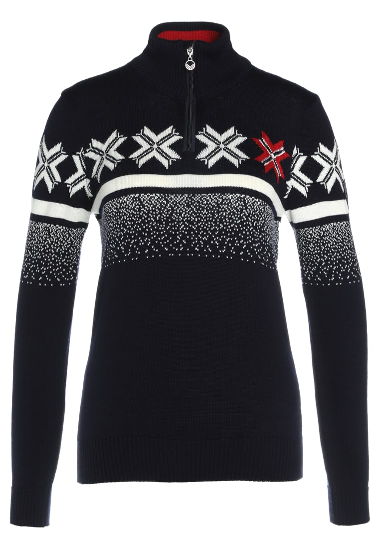 Dale of Norway OLYMPIC PASSION Sweter navy/raspberry/off white - 93351