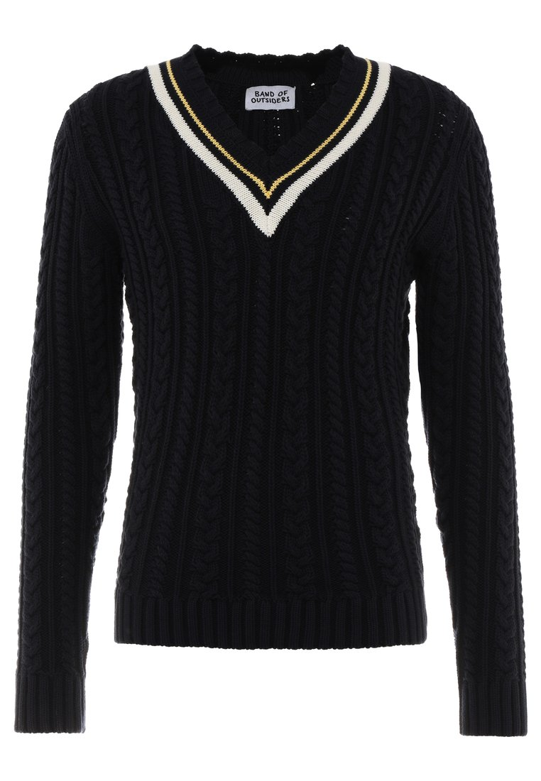 Band of Outsiders PREPPY CABLE JUMPER Sweter navy - KV0002CK500