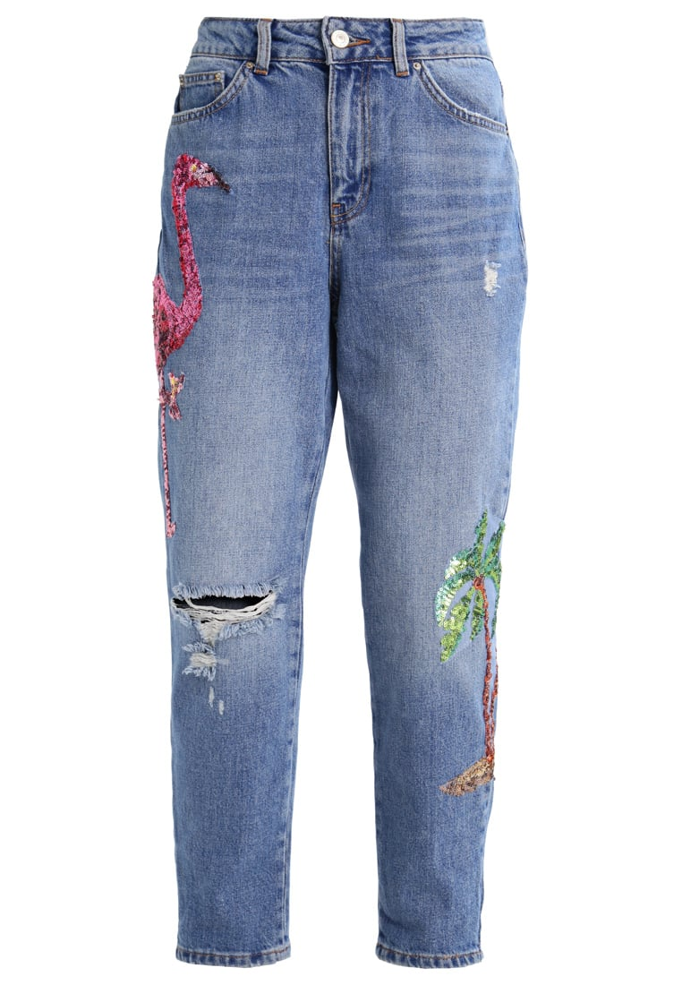 Topshop Petite FLMINGO MOM Jeansy Relaxed fit lightdenim - 26A62LSUL
