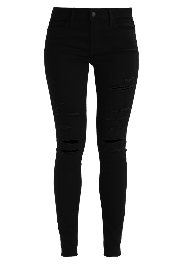 Abercrombie & Fitch CORE RISE Jeans Skinny Fit washed black - KI155-7208