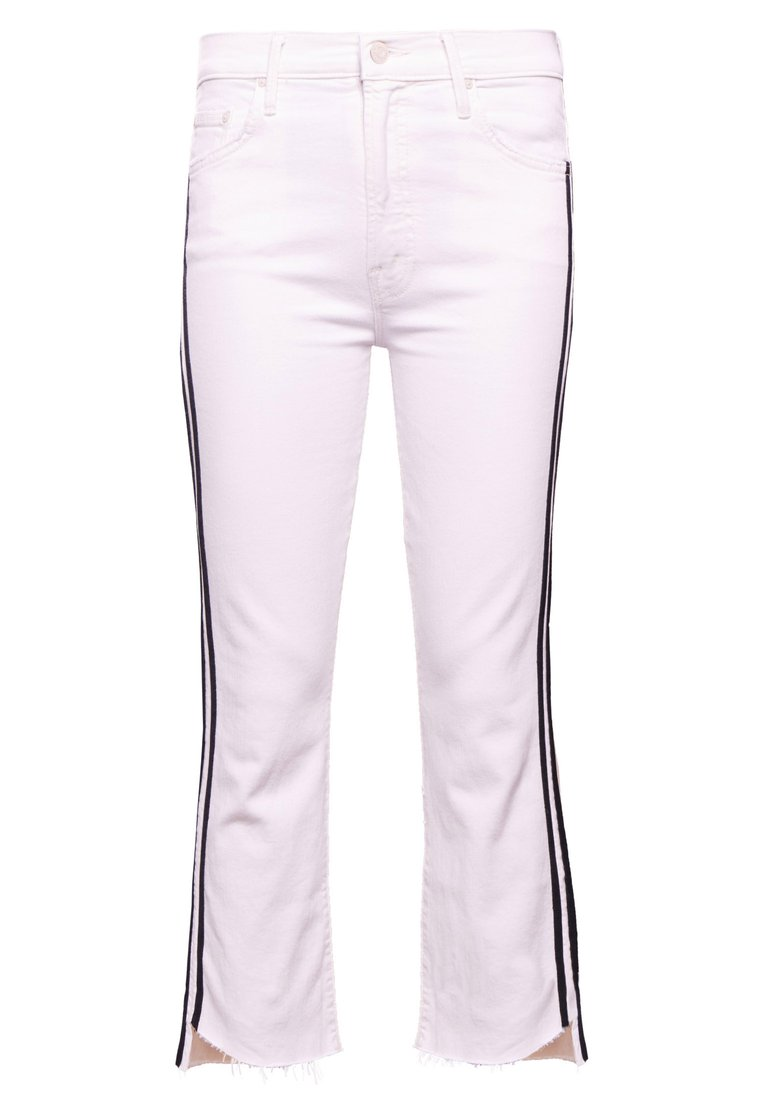 Mother INSIDER CROP STEP FRAY Jeansy Bootcut white - 1157-381